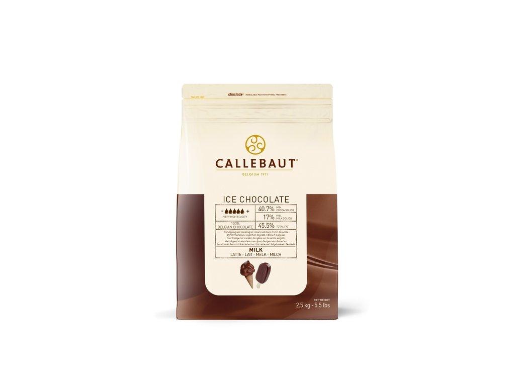 callebaut ice chocolate mlecna cokolada na polevani