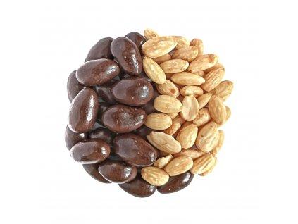 mandle v horke cokolade nuttamix