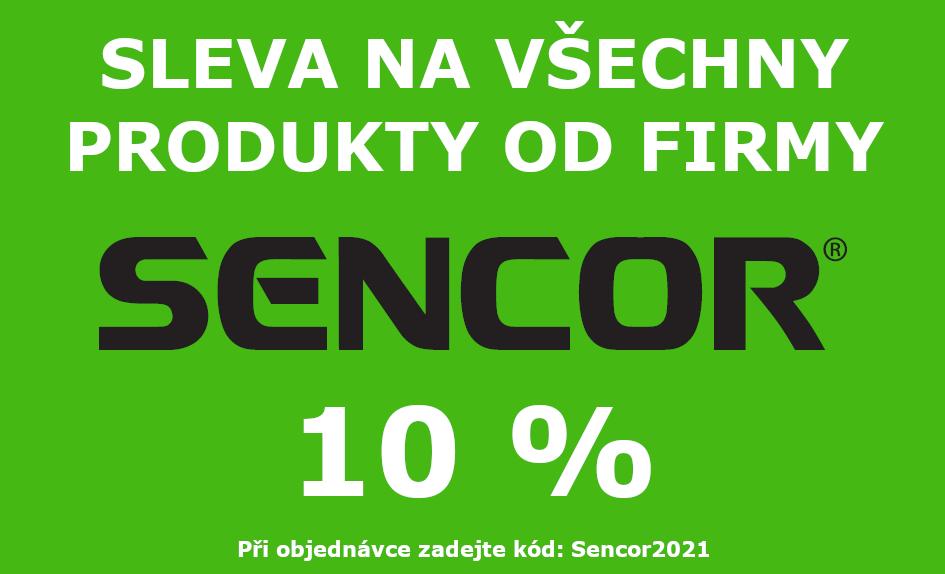 Sleva 10 % na všechny produkty společnosti Sencor