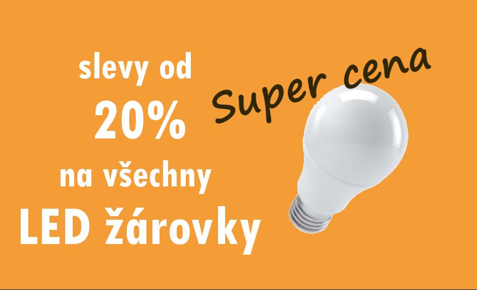 Slevy od 20% na LED žárovky