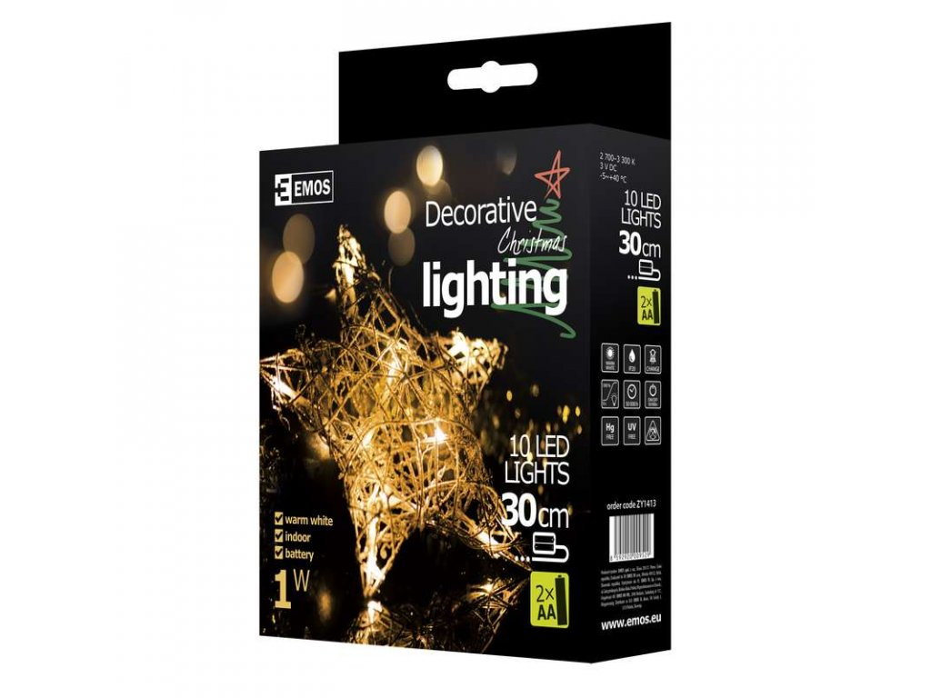 EMOS Lighting LED dekorace - hvězda, IP20, teplá bílá ZY1413