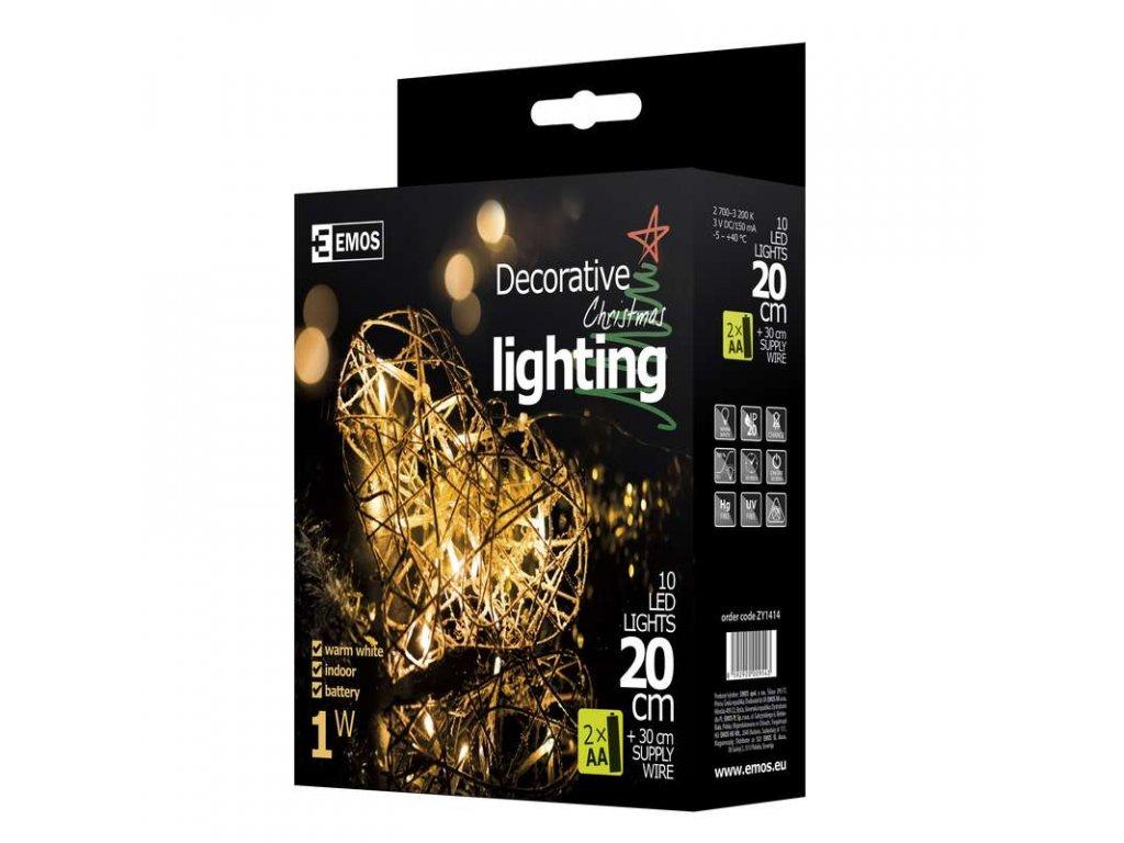 EMOS Lighting LED dekorace - srdce, IP20, teplá bílá ZY1414