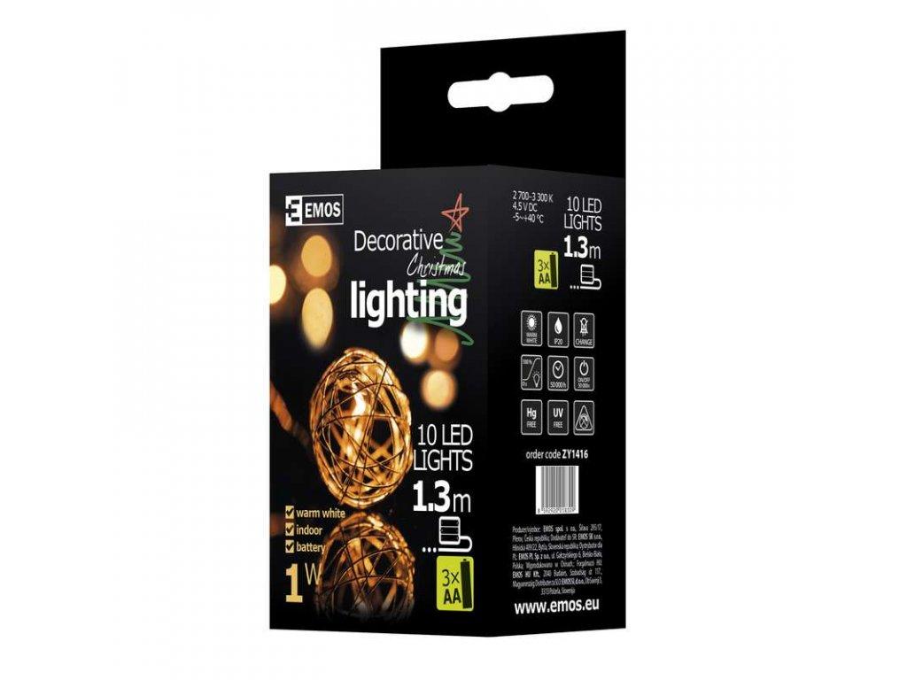 EMOS Lighting LED girlanda - měděné koule, 1m, teplá bílá ZY1416