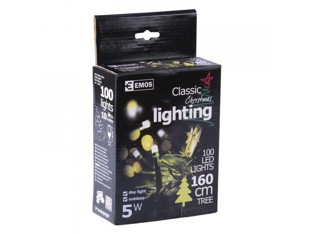 EMOS Lighting 100 LED řetěz, 10m, IP44, denní bílá ZY0807