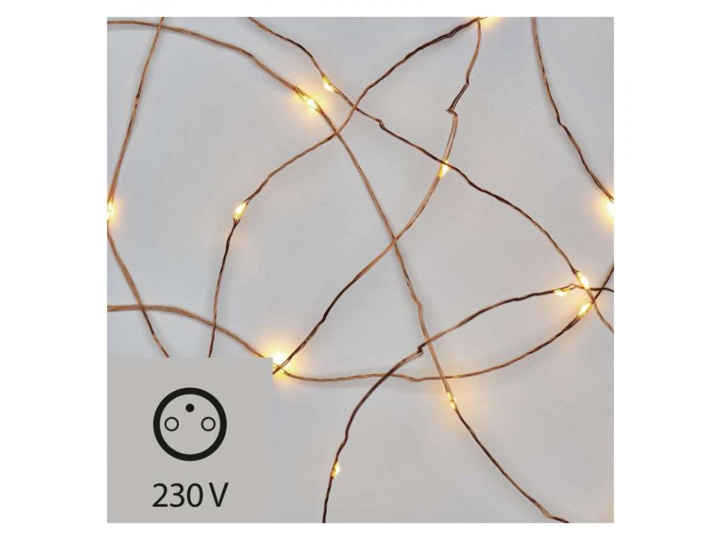 EMOS Lighting 100 LED řetěz nano, 10m, teplá bílá ZY1426