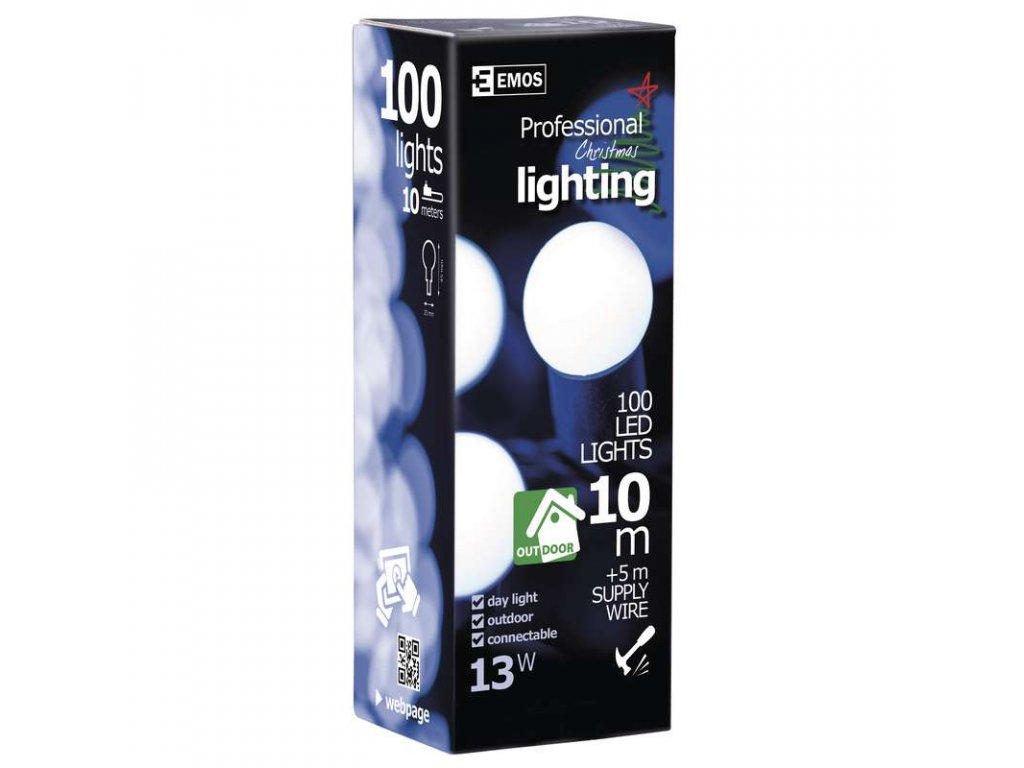 EMOS Lighting 100 LED řetěz - kuličky, IP65 denní světlo ZY0702