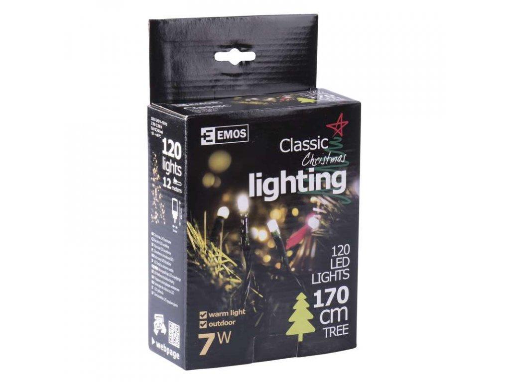 EMOS Lighting 120 LED řetěz, 12m, IP44, teplá bílá- VÝPRODEJ ZY1703