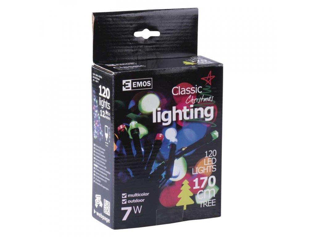 EMOS Lighting 120 LED řetěz, 12m, IP44, multicolor- VÝPRODEJ ZY0813