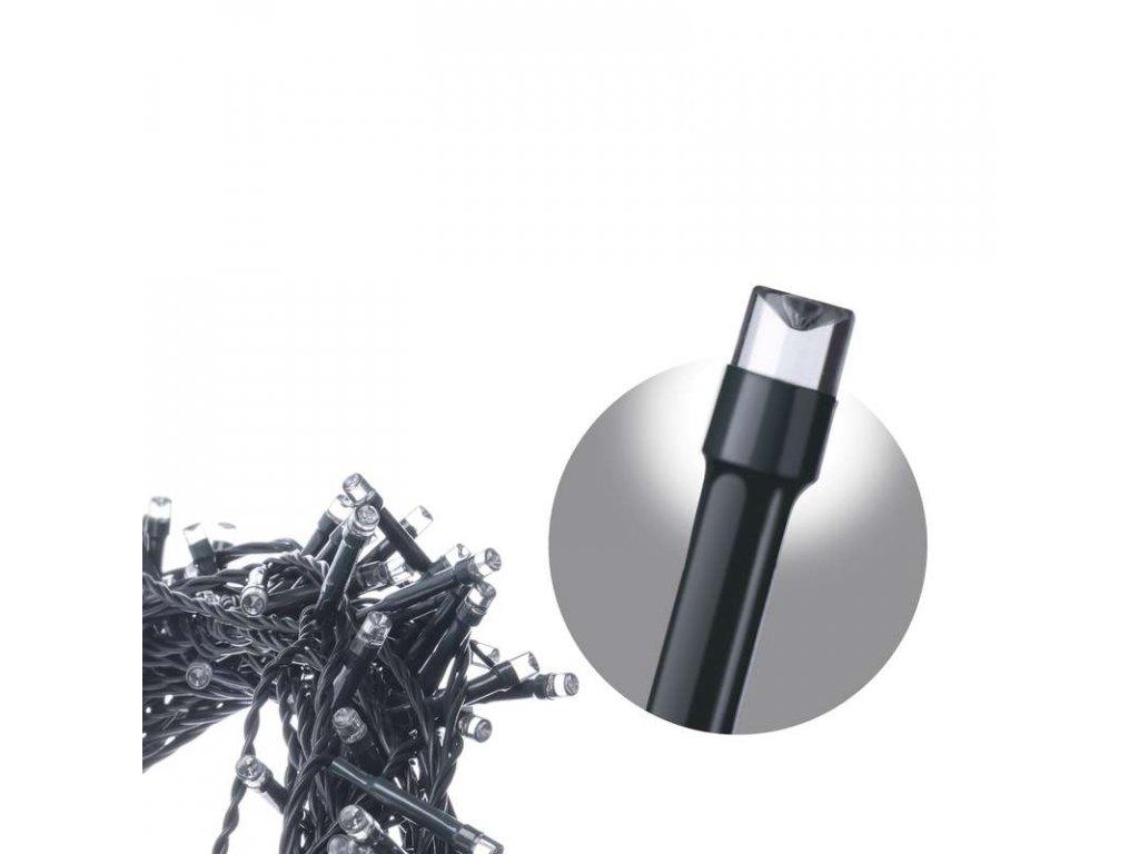 EMOS Lighting LED vánoční řetěz, 6,4m, studená bílá, programy ZY1001