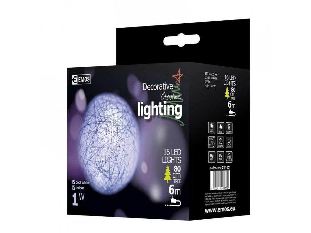 EMOS Lighting LED girlanda - bílé koule bavlněné, 3m, IP20, studená bílá ZY1401