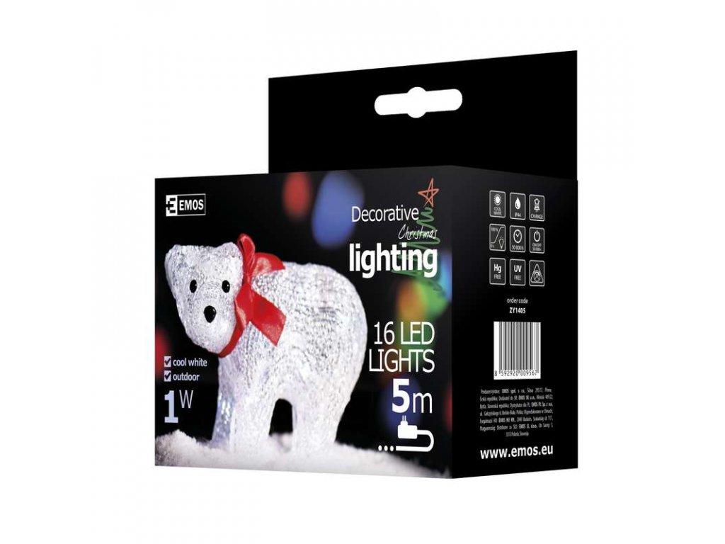EMOS Lighting LED dekorace - medvěd, studená bílá ZY1405