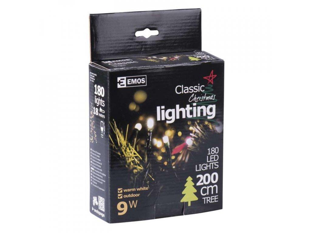 EMOS Lighting 180 LED řetěz, 18m, IP44, teplá bílá- VÝPRODEJ ZY1704