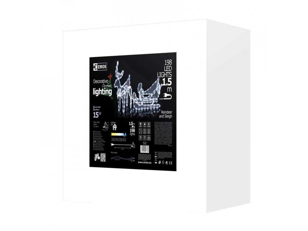 EMOS Lighting LED dekorace - sob se sáněmi, studená bílá ZY1422