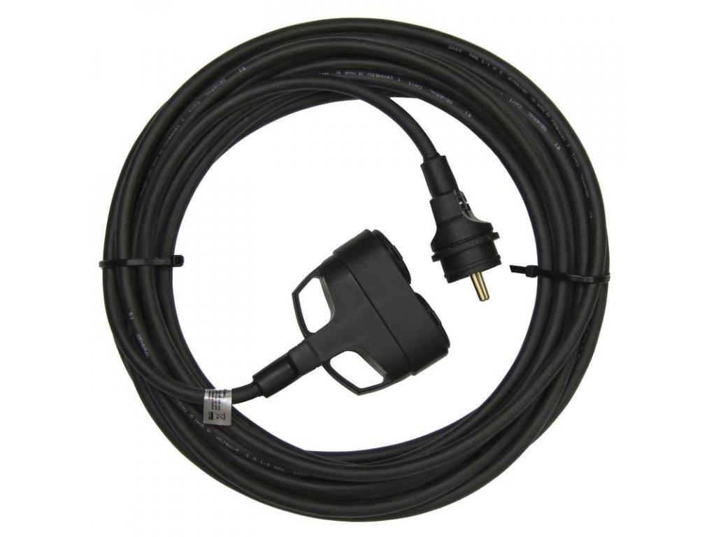 EMOS 1f prodlužovací kabel 3x1,5mm 2 zásuvky 5m PM0609