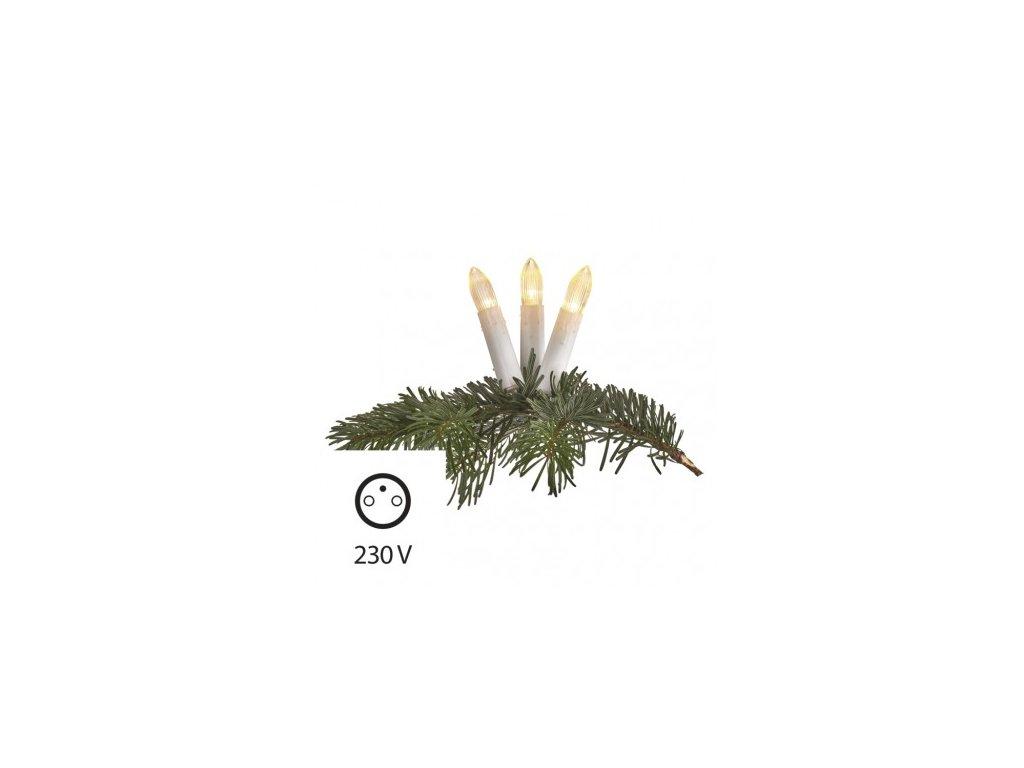 EMOS Lighting LED vánoční řetěz – svíčky, 7m, teplá bílá ZY1424