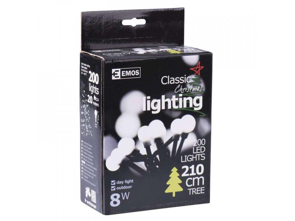 EMOS Lighting 200 LED řetěz - kuličky, 20m, IP44, denní bílá ZY0903