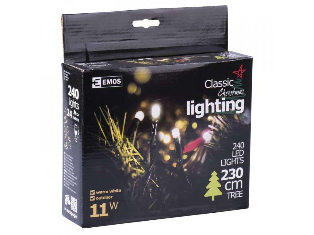 EMOS Lighting 240 LED řetěz, 24m, IP44, teplá bílá- VÝPRODEJ ZY1705
