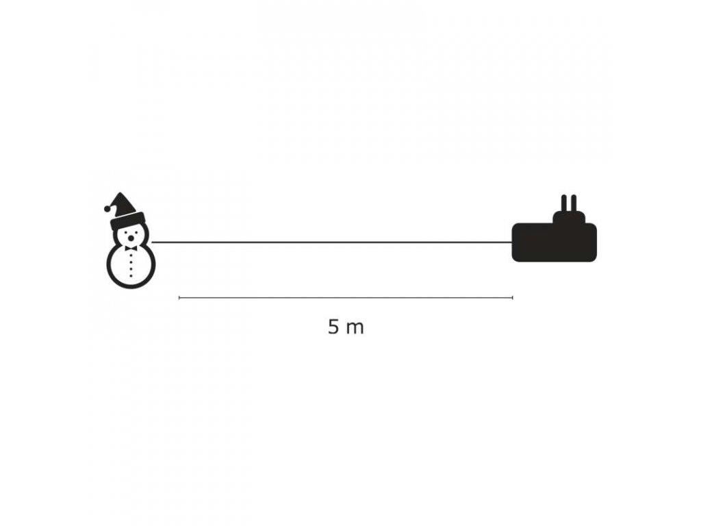 EMOS Lighting LED dekorace - sněhulák, studená bílá ZY1409