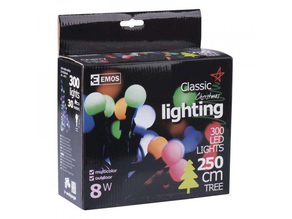 EMOS Lighting 300 LED řetěz - kuličky, 30m, IP44, multicolor- VÝPRODEJ ZY1610