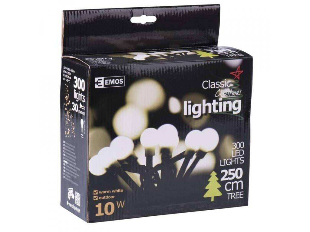 EMOS Lighting 300 LED řetěz - kuličky, 30m, IP44, teplá bílá ZY1603