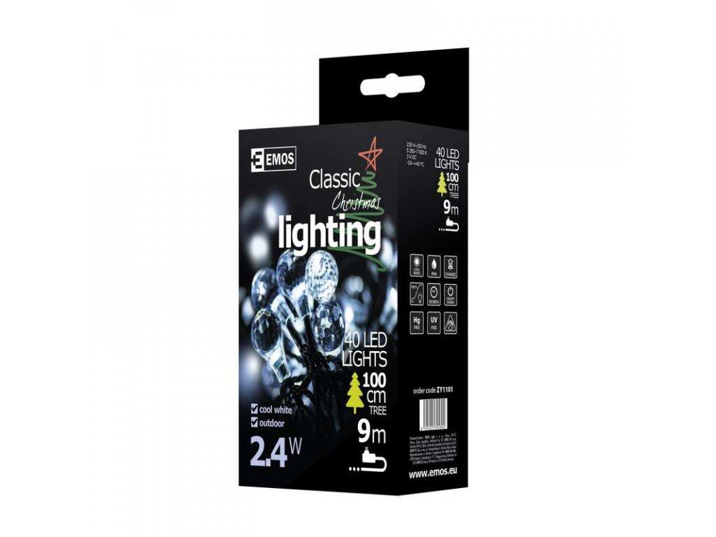 EMOS Lighting 40 LED řetěz - diamanty, 4m, studená bílá ZY1101