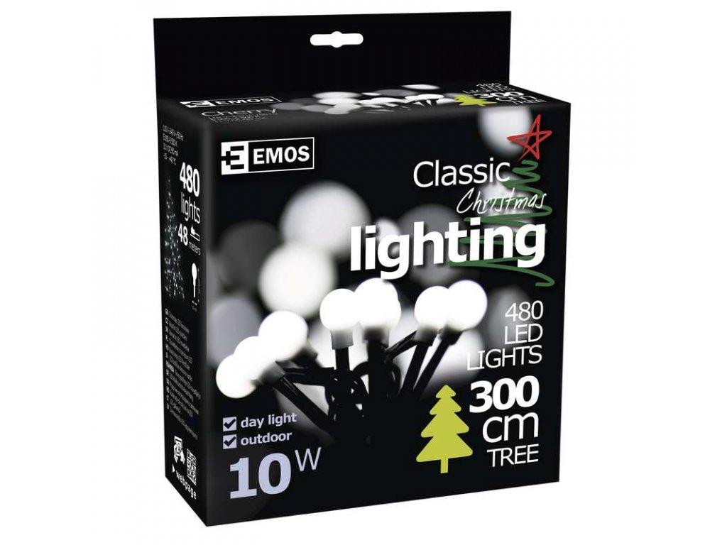 EMOS Lighting 480 LED řetěz - kuličky, 48m, IP44, denní bílá ZY1604
