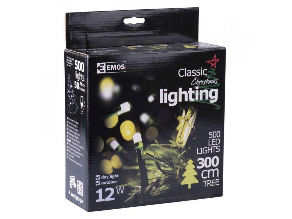 EMOS Lighting 500 LED řetěz, 50m, IP44, denní bílá- VÝPRODEJ ZY0806