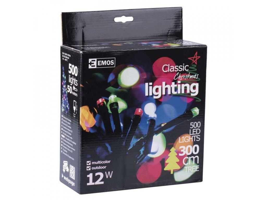 EMOS Lighting 500 LED řetěz, 50m, IP44, multicolor- VÝPRODEJ ZY0816