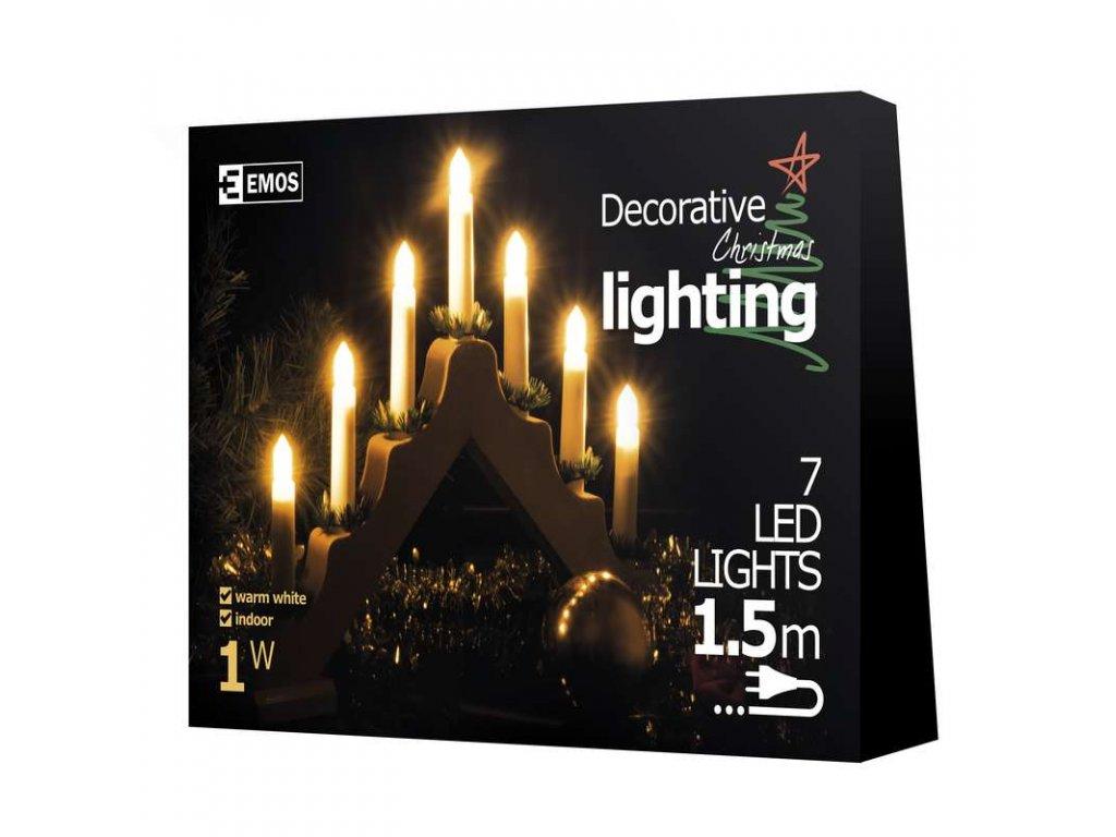 EMOS Lighting LED dekorace - svícen 7 LED, přírodní, IP20, teplá bílá ZY1425