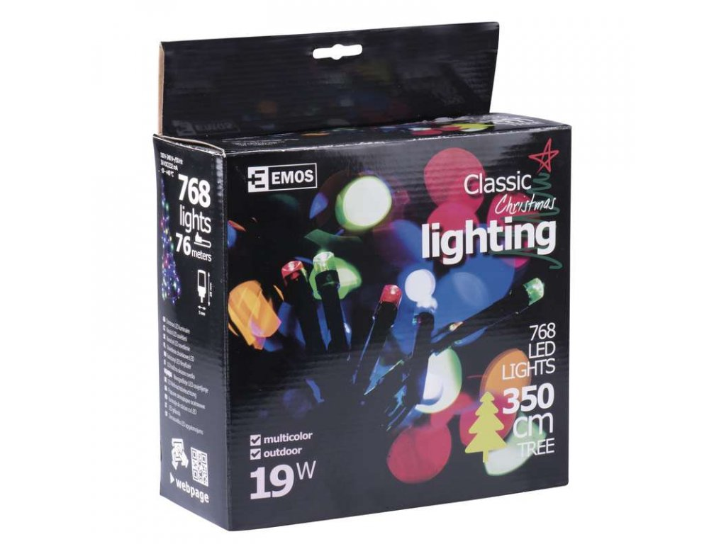 EMOS Lighting 768 LED řetěz, 76m, multicolor- VÝPRODEJ ZY1511