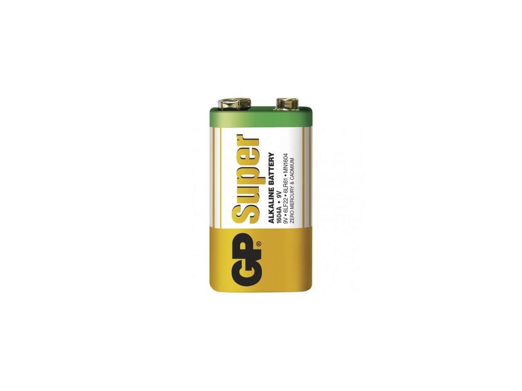 GP Batteries Alkalická baterie GP Super 9V (6LF22) B1350