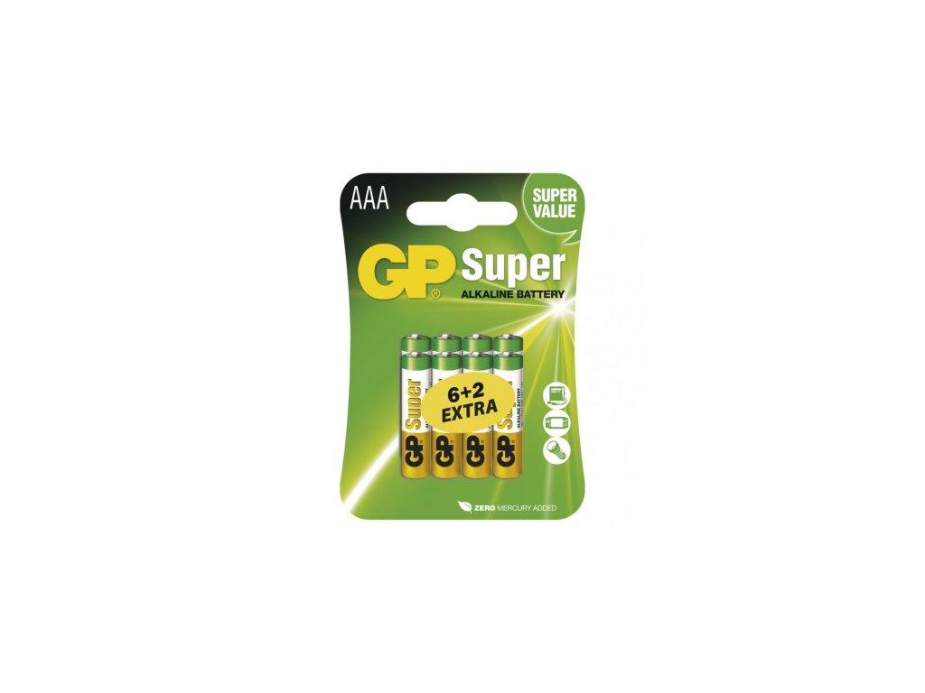 GP Batteries Alkalická baterie GP Super AAA (LR03) B13118