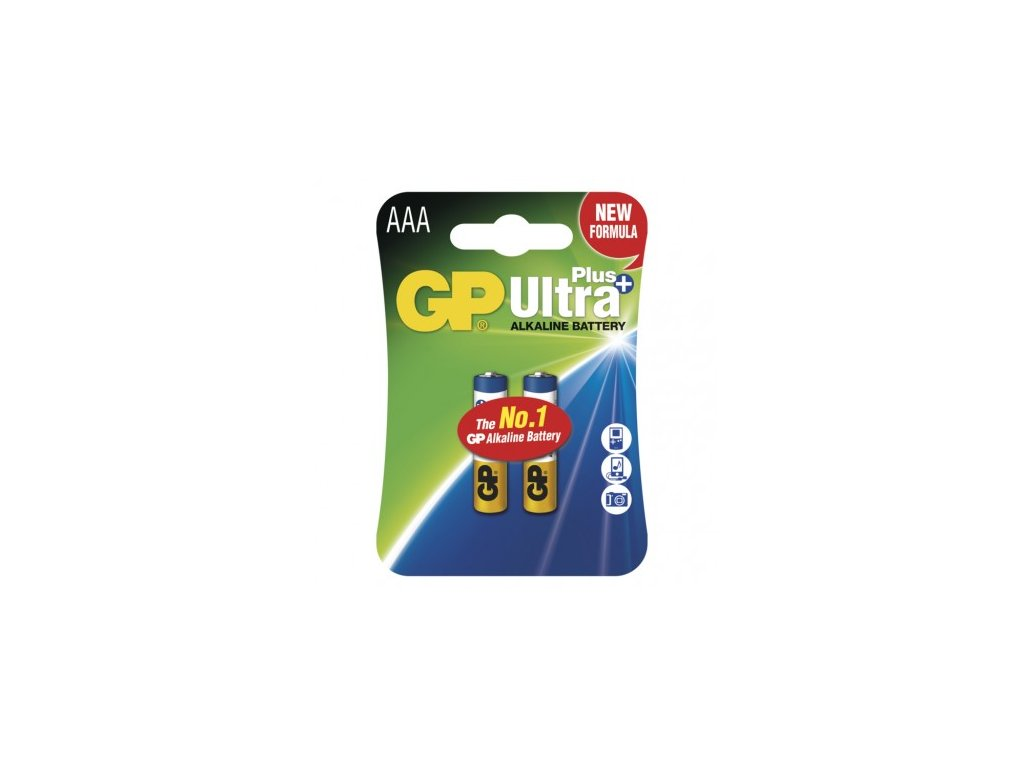 Alkalická baterie GP Ultra Plus AAA (LR03)
