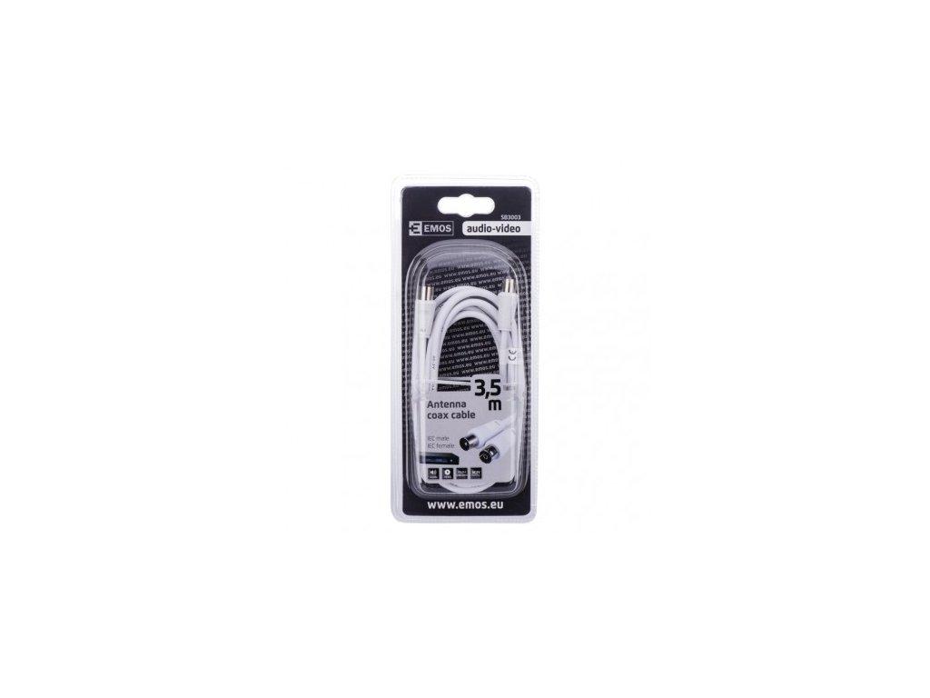 EMOS Anténní koaxiální kabel stíněný 3,5m - rovné vidlice SB3003