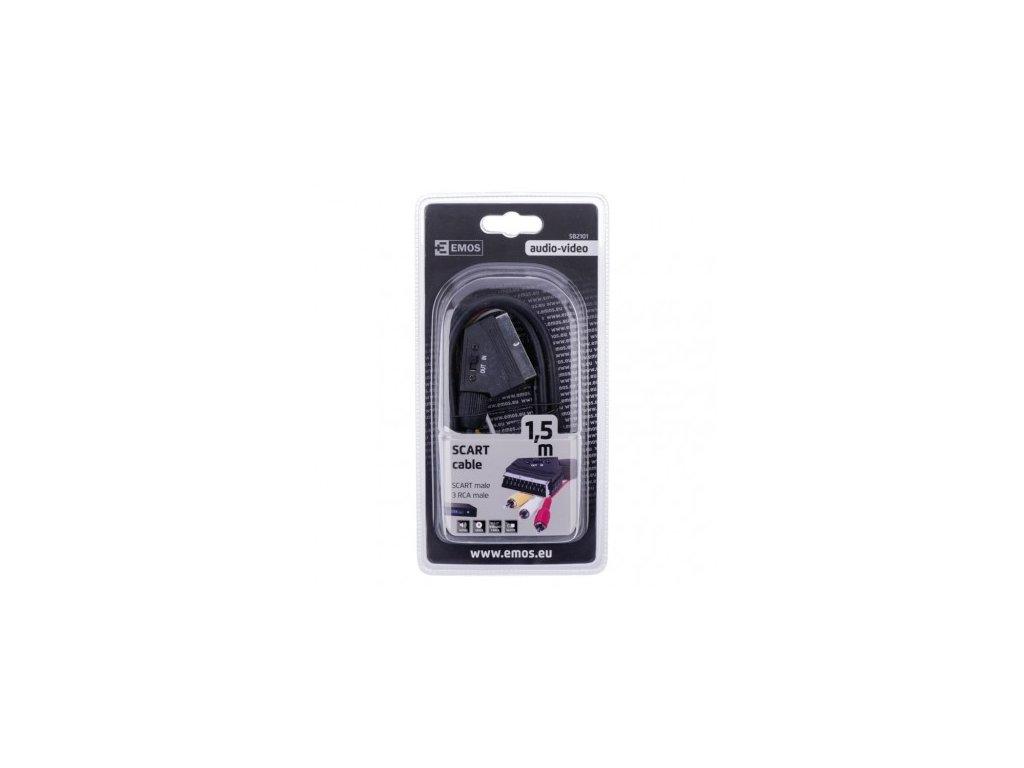 EMOS AV kabel SCART - 3x CINCH 1,5m SB2101