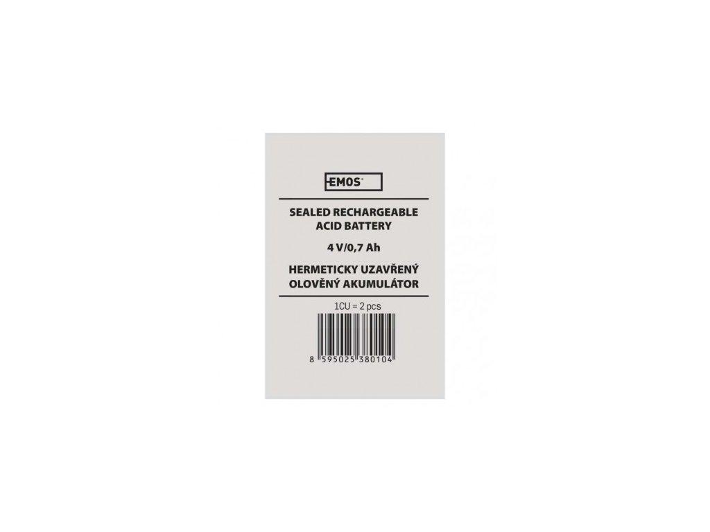 EMOS Bezúdržbový olověný akumulátor 4 V/0,7 AH B9662