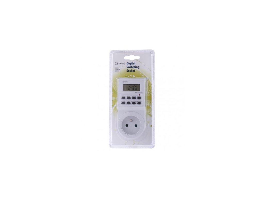 EMOS Časovač – digitální spínací zásuvka TS-EF1 P5501