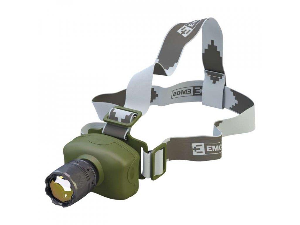 EMOS CREE LED čelovka P3512, 100 lm, 230m, 3× AAA P3512