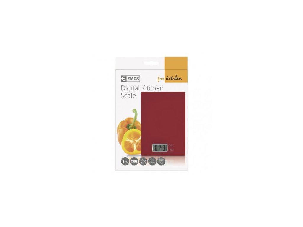 EMOS Digitální kuchyňská váha TY3101R, červená EV014R