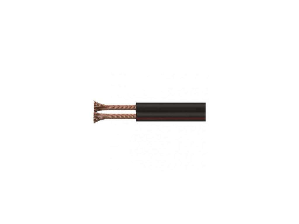 EMOS Dvojlinka ECO 2x0,75mm, černo/rudá, 100m S8273