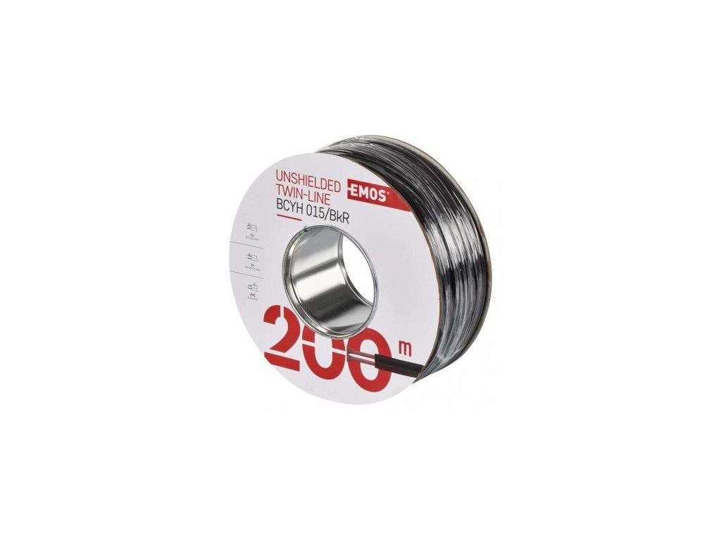 EMOS Dvojlinka nestíněná 2x0,15mm černo/rudá, 200m S8130