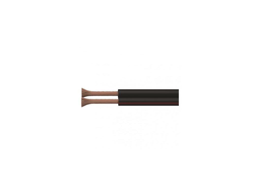 EMOS Dvojlinka nestíněná 2x0,35mm černo/rudá, 100m S8230