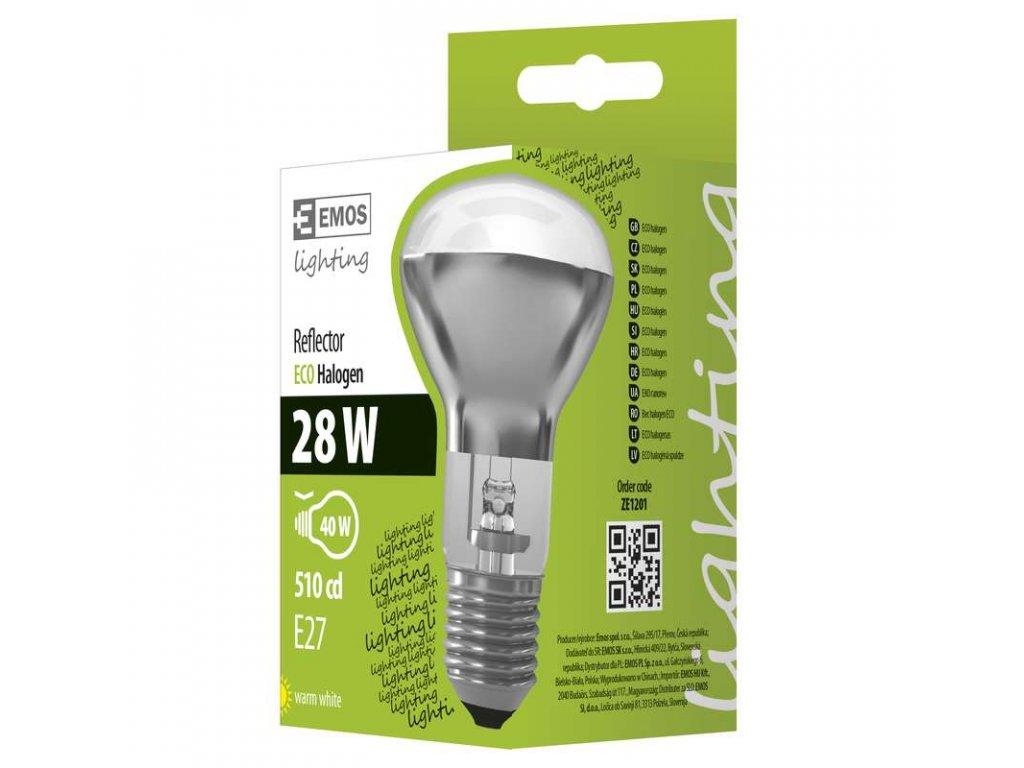 EMOS Lighting Halogenová žárovka ECO R63 28W E27 teplá bílá, stmívatelná ZE1201