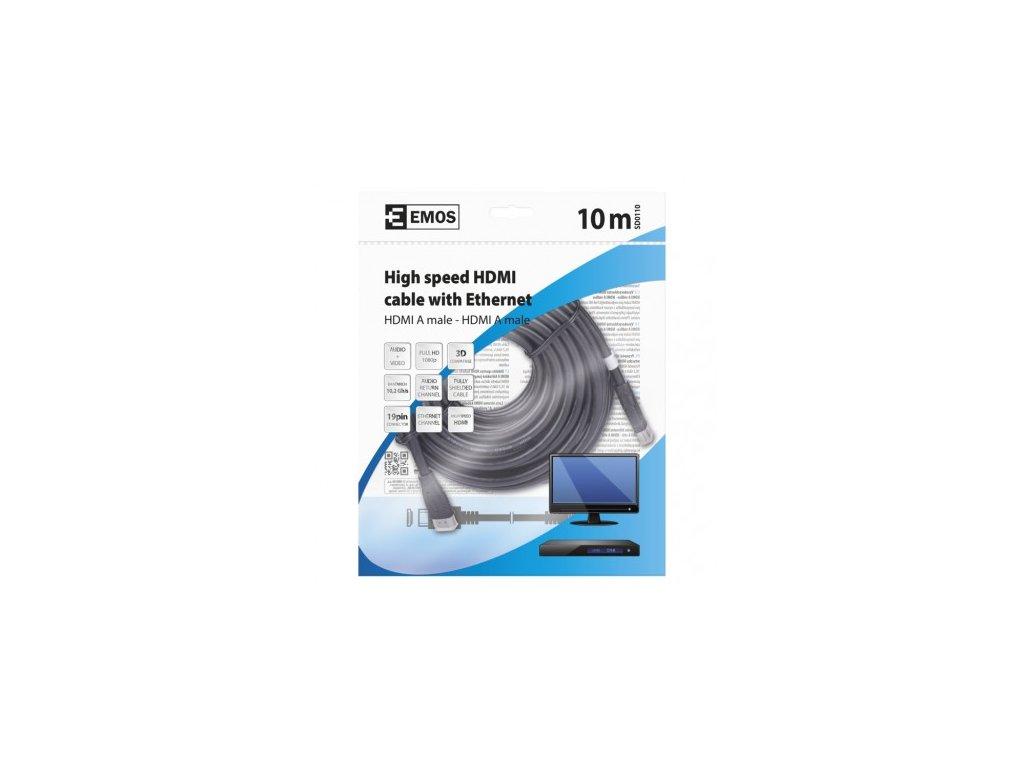 EMOS HDMI 2.0 high speed kabel ethernet A vidlice - A vidlice 10m SD0110