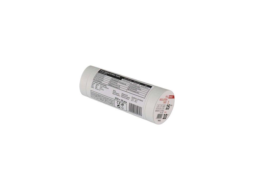 EMOS Izolační páska PVC 15mm / 10m bílá F61511