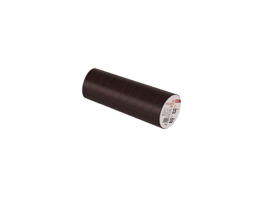 EMOS Izolační páska PVC 15mm / 10m hnědá F61517