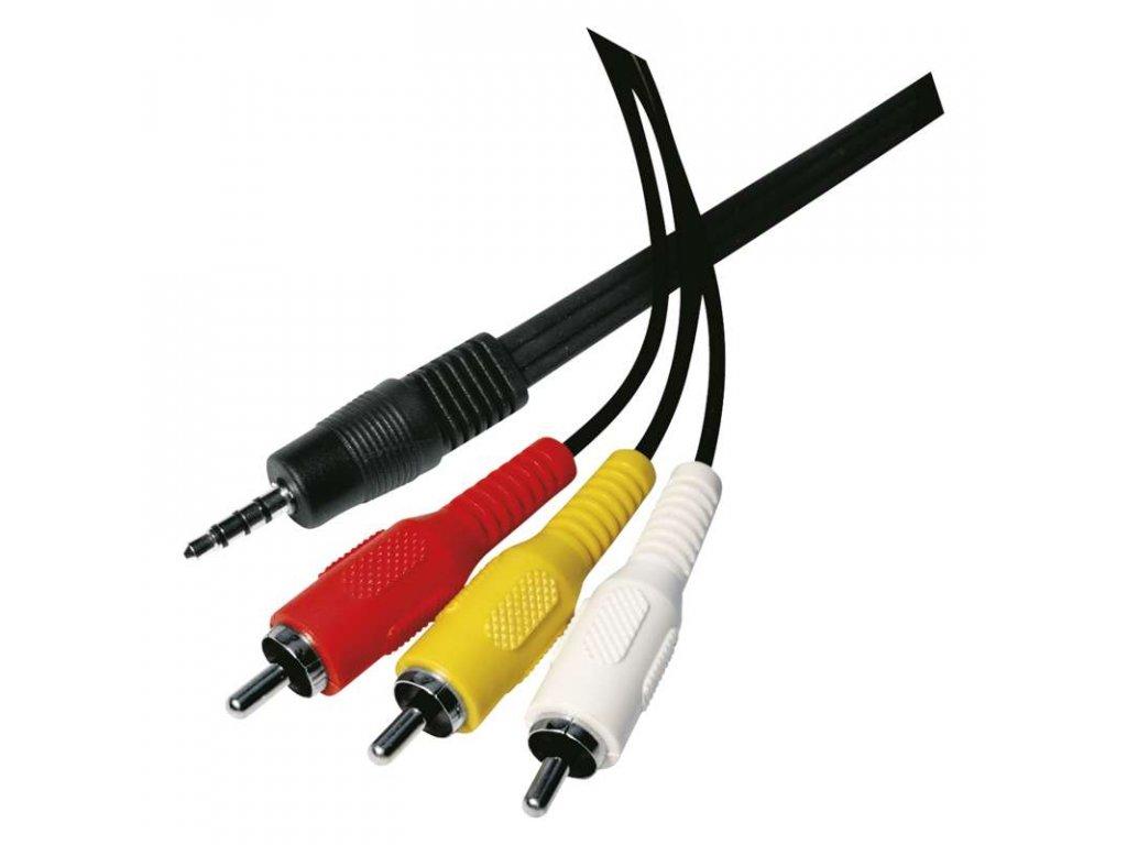 EMOS JACK kabel 3,5mm 4 póly vidlice - 3x CINCH vidlice 1,5m SD5401