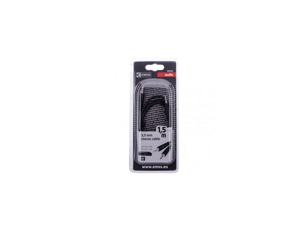 EMOS Kabel JACK 3,5mm stereo, vidlice - 3,5mm vidlice 1,5m SB5001