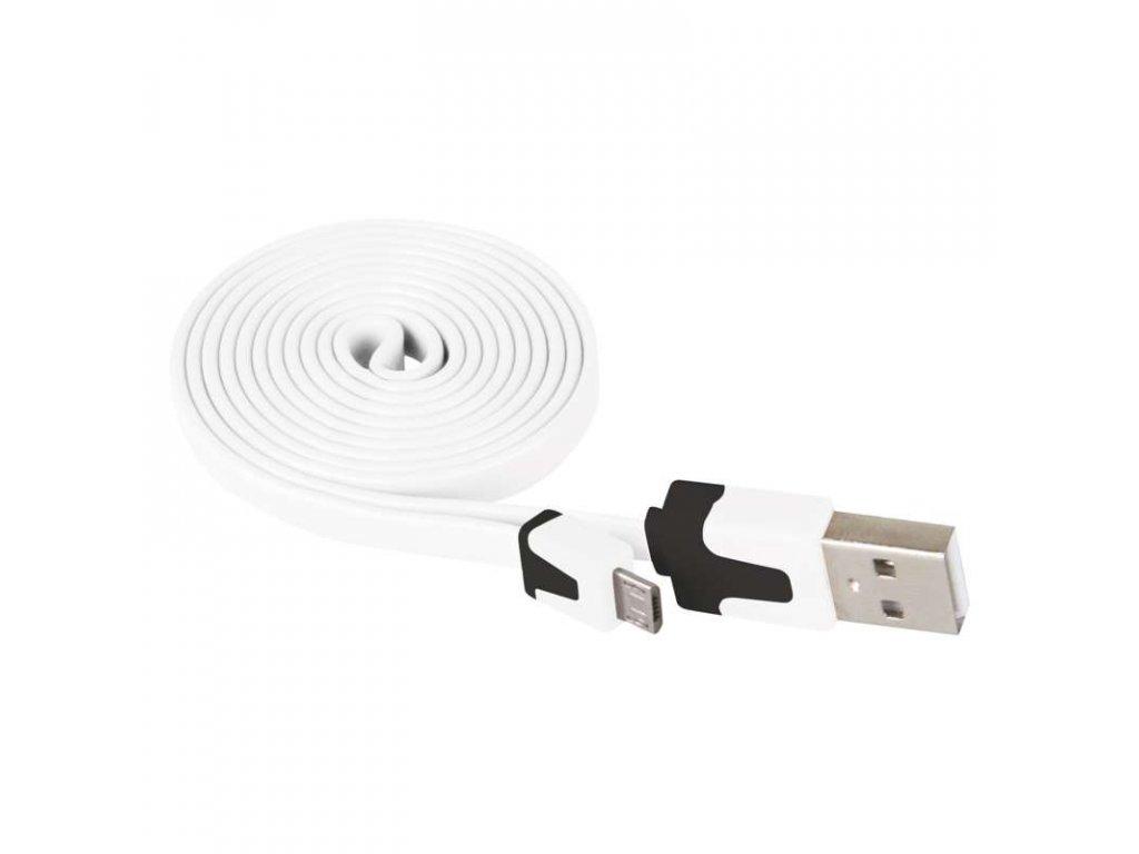 EMOS USB kabel 2.0 A/M - micro B/M 1m bílý SM7001W