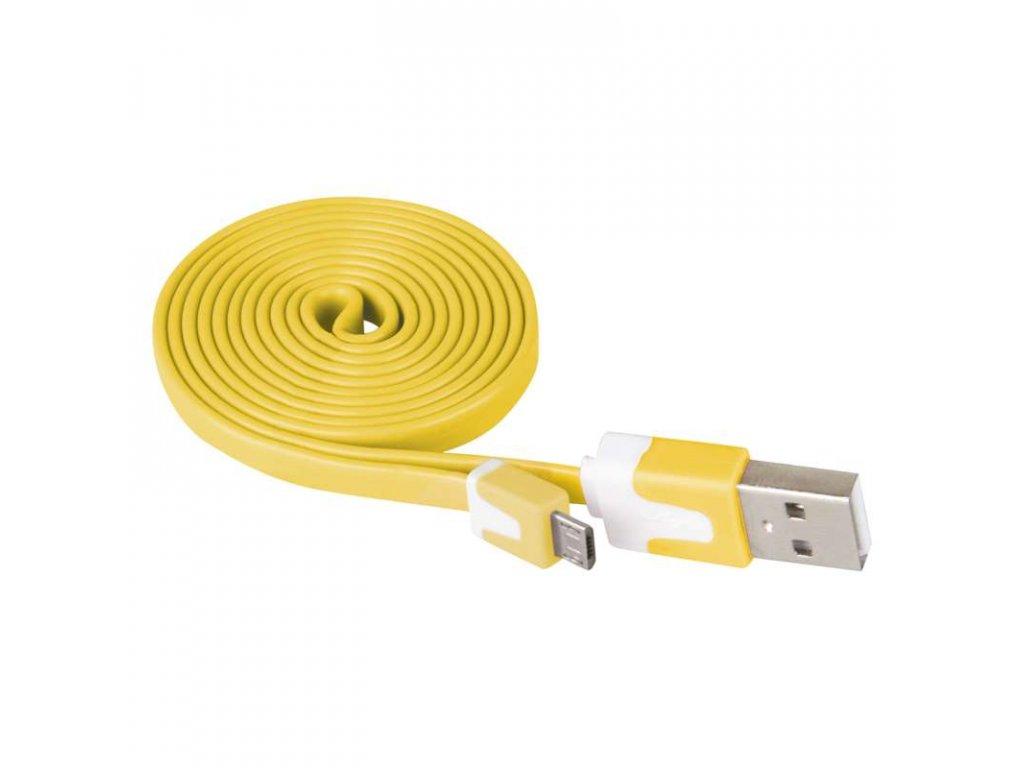 EMOS USB kabel 2.0 A/M - micro B/M 1m žlutý SM7001Y